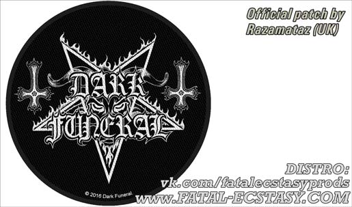 DARK FUNERAL Circular Logo PATCH доступно www.fatal-ecstasy.com купить available at www.fatal-ecstasy.com buy
