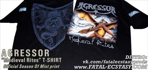AGRESSOR Medieval Rites T-SHIRT доступно www.fatal-ecstasy.com купить available at www.fatal-ecstasy.com buy