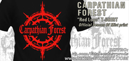 CARPATHIAN FOREST Red Logo T-SHIRT доступно www.fatal-ecstasy.com купить available at www.fatal-ecstasy.com buy
