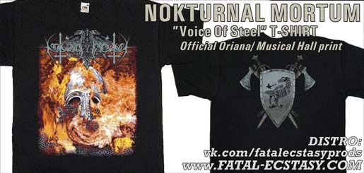 NOKTURNAL MORTUM Voice Of Steel Голос Сталi T-SHIRT доступно www.fatal-ecstasy.com купить available at www.fatal-ecstasy.com buy