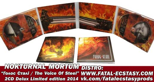 NOKTURNAL MORTUM Голос Сталі/ The Voice Of Steel. LTD Limited Double Digipack доступно www.fatal-ecstasy.com купить